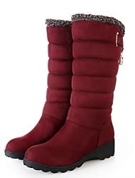 damesschoenen ronde neus sleehak halverwege de kuit laarzen meer kleuren beschikbaar