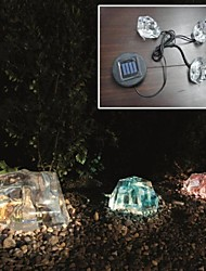Set of 3 Solar Colour Changing Iceberg Lights Garden Decor Lamp