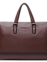 Mens Genuine Leather Fashion Tote Laptop Briefcase