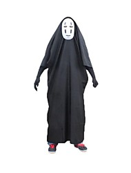 Spirited Away No Face Male Black Cotton with Mask Cosplay Costume