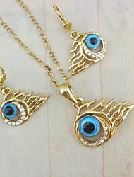 Plaqué or 18 carats mal ensemble de bijoux pour les yeux