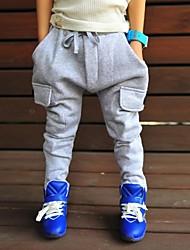 lazer moda do menino tudo combinar calças Haroun cor sólida