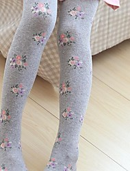 Girl's Leggings,Floral Cotton Winter / Fall / Spring