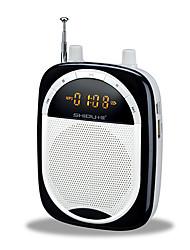 Loudspeaker Voice Amplifier Megaphone FM Wireless for Teaching TF Support USB AUX MP3 Voice Recording FM SHIDU S398