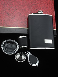 Gift Groomsman Groom/Groomsmen Personalized 5 Pieces Quality  Stainless Steel 9-oz Flask Gift Set