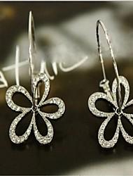 Frauen hohlen voller Diamant-Ohrringe Blume