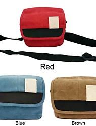 messaggero della spalla del sacchetto cassa della macchina fotografica della tela di canapa dengpin® per canon eos m 10-30 18-55 22, per l'obiettivo a