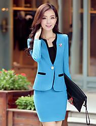 Niliya Women's Fashion Elegant Contrast Color Bodycon Business Suits