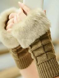 caldo cotone triangolo filato maglia guanti di pelliccia guanto delle donne