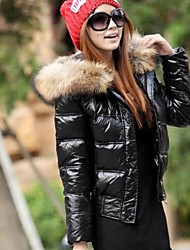 Women's  Fur Collar  Feather Coat (More Colors)
