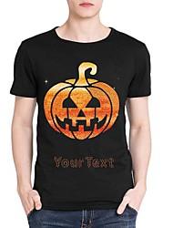 strass personalizado t-shirt do dia das bruxas abóbora fantasma mangas curtas de algodão dos homens padrão