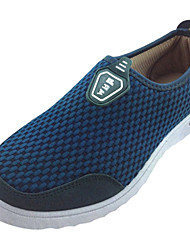 Men's Shoes Fabric Brown/Navy