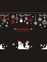 """merry christmas celebrtaing Schneemann und Geschenke Fensteraufkleber (98,4 """"B × 39.36"""" l)"""