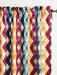 philips joven - (dos paneles) multi colores contemporáneos superposición cortina enrejado