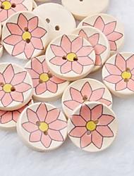 fleur dessin album scraft coudre des boutons en bois de bricolage (10 pièces)