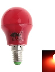 Ampoules Globe Décorative Rouge Zweihnde Sol E14 3 W 8 SMD 280-300 LM 6000-6500 K AC 100-240 V