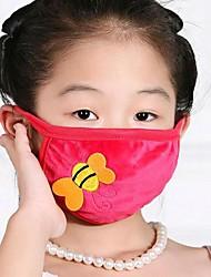 Children's Warm Cartoon Bee Crystal Velvet Face Mask(Random Color)