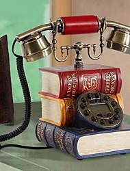 hoshine® nouveauté antique livre de style maison en forme de polyrésine téléphone avec affichage id ph28022