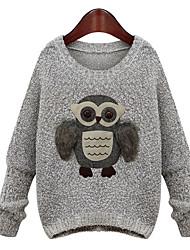 m.s.s suéter animalprint de las mujeres
