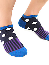 4 Pairs Of Cotton Pattern Ankle Socks