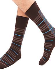 3 Pairs Of Cotton Check Stockings