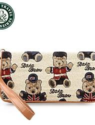 DAKA BEAR® Lady Zipper Wallet Teddy Bear Handbag Designer Purse