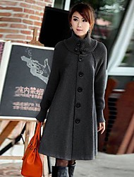 longa seção feminina de corta-vento coreano casaco outerwear