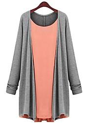 Женский свободный свитер с длинным рукавом