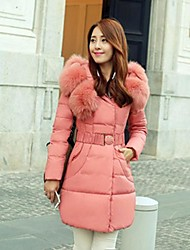 Women's New Korean Fashion Slim Long Sleeve Thicken Hooded Coat