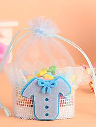 cesta de encaje con niño&ropa de la muchacha favor bolsa-juego de 12 (más colores)