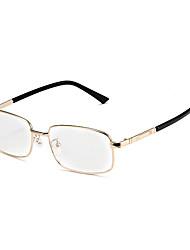 [Free Lenses] Metal Rectangle Full-Rim Classic Prescription Eyeglasses