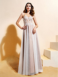Lanting A-line/Princess Wedding Dress Floor-length Jewel Lace / Tulle