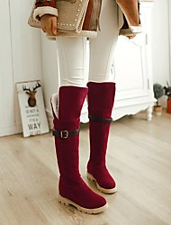 Women's Shoes Round Toe Wedge Heel Knee High Boots More Colors available