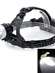 Pange Cree XPE Q5 500lm 3-Mode White Light 300M Range LED Headlamp Bike Light - Black + Silver (2 x 18650)