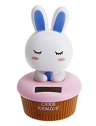 Cute Rabbit Shakeing Head Solar Powered Toys(Random Color)
