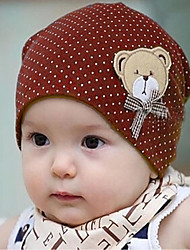 Children's Cute Dots Bear Hat