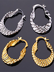 Vintage Women's 18K Real Gold Platinum Plated Earrings Basketball Wives Hoop Earrings for Women