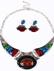 Jewelry Set Women's Party Jewelry Sets Alloy Non Stone Earrings / Necklaces Silver