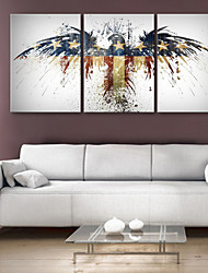 Canvas Art Fantasia American Eagle Conjunto de 3