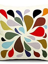 multicolor algodão gota de água / linho fronha decorativo