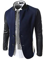 x-man Männer Slim Stehkragen-Anzug