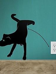 parete cane jiubai® decalcomania della parete dell'autoadesivo