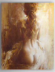 Hand-Painted People Nude One Panel Canvas Oil Painting For Home Decoration