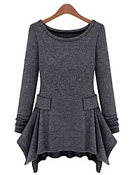 weimeijia® Frauen zeigen dünne stricken Langarm-Unterkleid