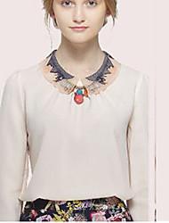 chemise de woment creux coloré de simplicité pan de collier de mode de ts