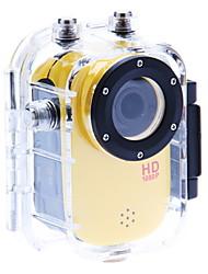 F10W 1080P H.268 Full HD Sports HD DV True Record True Record HD World FPV Camera(Yellow)