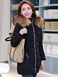Women's Clothing Dazhongjie Bodycon Fashion Down & Parka with Fur collar
