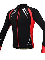 Maillot Cyclisme Vélo/Veste de cyclisme Homme manches longues polaire chaude vélo coupe-vent veste polaire + spandex la c01023r des hommes Santic
