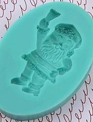 Noël Santa Claus outils fondant gâteau au chocolat silicone moule à cake de décoration, l8.5 * w6 * h1.3cm