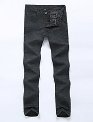 automne tenue coton de ramie casual pantalon long pour hommes